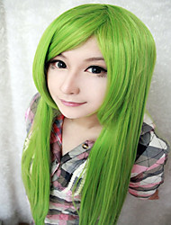 cheap -Synthetic Wig Straight Green Women's Capless Carnival Wig Halloween Wig Cosplay Wig Very Long Synthetic Hair
