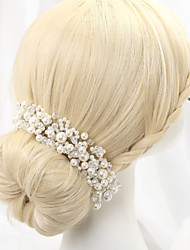 abordables -diadema de imitación perla diadema casco clásico estilo femenino