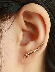 abordables -Mujer Pendientes cortos Puños del oído Moda Elegant joyería de disfraz Forma de Hoja Alas / Pluma Joyas Para Diario Casual