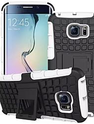 economico -per Samsung Galaxy s7 pc caso bordo del pneumatico ibrido TPU duro antiurto cavalletto copertura della galassia S6 S5 S4 mini bordo più