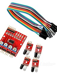 cheap -4-Way Infrared Tracing Transmission Line Modules Car Robot Sensor