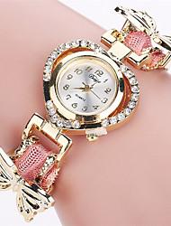 baratos -Xu™ Mulheres Relógio de Pulso Venda imperdível PU Banda Vintage / Casual / Borboleta Preta / Branco / Azul