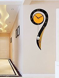 cheap -Modern/Contemporary Houses Wall Clock,Others Metal / Wood 26*60cm Indoor Clock