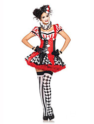 Burlesque/Clown Female Halloween Christmas Carnival Children's Day New Year Oktoberfest Festival/Holiday Halloween Costumes Red/black