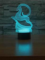 Недорогие -олень сенсорный dimming 3d светодиодный свет ночи 7colorful украшение атмосфера лампа новинка освещение свет