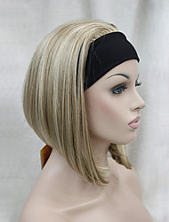 cheap -New Fashion 3/4 Wig With Headband Women's Short Straight Synthetic Half Wig
