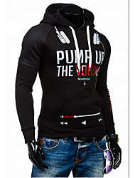 cheap -Men's Sports Active Long Sleeve Hoodie - Letter