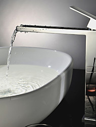 Contemporary Tub And Shower Waterfall Ceramic Valve One Hole Single Handle One Hole Chrome , Shower Faucet Bathtub Faucet Bathroom Sink