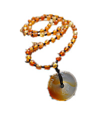 Men's Pendant Necklaces Long Necklace Agate Religious Jewelry Daily Casual 1pc