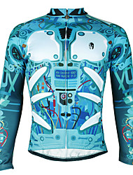 Men's Windproof Long Sleeves Winter Thermal Cycling Bicycle Jersey Jacket ZRCX610