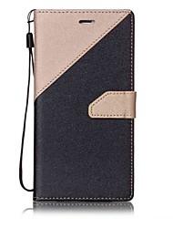 abordables -Coque Pour Apple Coque iPhone 5 iPhone 6 iPhone 7 Porte Carte Clapet Coque Intégrale Carreau vernisé Dur faux cuir pour iPhone 7 Plus