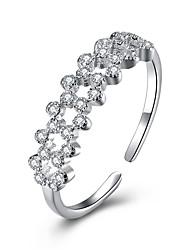 preiswerte -Damen Sterling Silber Verlobungsring / Ring - Luxus / Ohne Verschluss / Einstellbar Silber Ring Für Hochzeit / Party / Alltag
