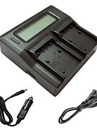 abordables -ismartdigi FH fv fp LCD de doble cargador con el cable de carga del coche para Sony FH 50 70 100 fv 50 70 100 120 50 70 90 fp BATTERYS