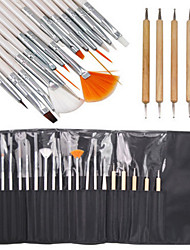15Pcs Nail Art Design Painting Drawing Pen Brush Set With 5Pcs  Dotting Marbleizing Pen Tool