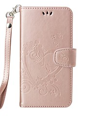 cheap -for Motorola Moto G4 G4 PlusFull Body Heart Embossed Leather Wallet