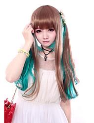 preiswerte -Lolita Perücken Niedlich Farbverläufe Lolita Perücken 60 CM Cosplay Perücken Patchwork Perücke Für