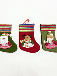 High Quality S Size Textile Christmas Stocking Holiday Ornaments