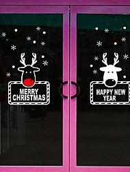 preiswerte -Art Deco Moderne Fenster-Aufkleber, PVC/Vinyl Stoff Fensterdekoration Esszimmer Schlafzimmer Büro Kinderzimmer Wohnzimmer Badezimmer Shop