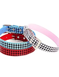 cheap -Dog Collar Adjustable / Retractable Novelty Hearts Rhinestone PU Leather Red Blue Pink