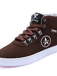 cheap -Men's Shoes Suede Winter Fall Comfort Sneakers Lace-up for Casual Outdoor Black Coffee Blue