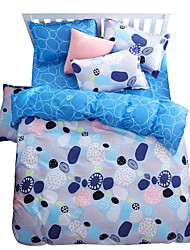 Mingjie Wonderful Blue Bedding Sets 4PCS for Twin Full Queen King Size from China Contian 1 Duvet Cover 1 Flatsheet 2 Pillowcases