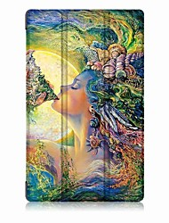 cheap -Oil Painting PU Leather Case with Sleep for 8.9 Inch Amazon New Fire HD8