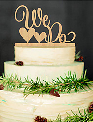 Wooden I DO Cake Topper Non-personalized Acrylic Wedding / Anniversary / Bridal Shower  14*13cm