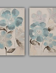cheap -Hand-Painted Abstract / Floral/Botanical Modern / Classic One Panel Canvas Oil Painting