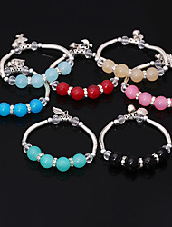 cheap -Women's Others Chain Bracelet Charm Bracelet Strand Bracelet - Personalized Fashion Beaded Pink Light Blue Khaki Bracelet For Daily