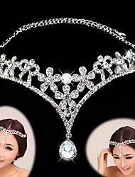 cheap -Rhinestone Alloy Tiaras Headbands Headwear with Floral 1pc Wedding Special Occasion Headpiece