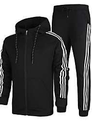 Men's Tracksuit Long Sleeves Thermal / Warm Soft Comfortable Jacket Pants / Trousers Hoodie Clothing Suits Top for Running/Jogging