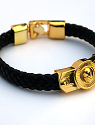 cheap -Inspired by Death Note Cosplay Anime Accessories Bracelet Golden Alloy / PU Leather