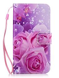preiswerte -Hülle Für Samsung Galaxy J7 Prime J5 Prime Kreditkartenfächer Geldbeutel mit Halterung Ganzkörper-Gehäuse Blume Hart PU-Leder für J7