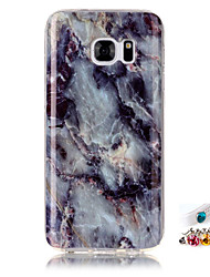 cheap -For Samsung Galaxy S7 S6 edge Cover Case Marble Pattern Painting IMD Technology Tpu Material Phone Shell And Dust Plug Combination
