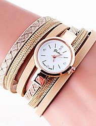 abordables -Mujer Reloj Pulsera / Reloj de Pulsera Cool / Colorido PU Banda Encanto / Vintage / Casual Negro / Blanco / Azul