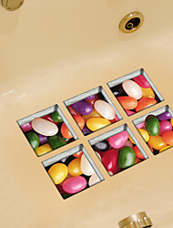 Rainbow Candy 3D Bathroom Non-Slip Stickers The Floor Tile Individuality Decorative Stickers
