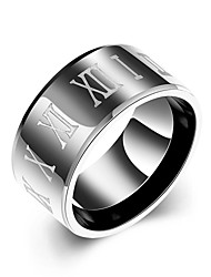 Ring Wedding / Party / Daily / Casual / Sports Jewelry Stainless Steel Men Ring 1pc7 / 8 / 9 / 10 Black