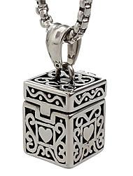 Недорогие -панк-стиль кулон ожерелье шарма нержавеющей стали 316l ювелирных изделий форма ретро резьба коробка