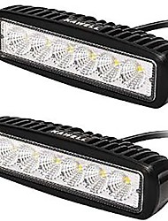 cheap -KAWELL® 18W LED Light Bar 90 Degree Flood Beam Light for ATV/Jeep/boat/suv/truck/car/atvs light Off Road Waterproof (Pack of 2)