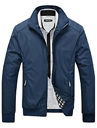 cheap -Men's Daily / Sports Active / Tops Jackets