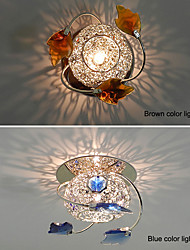 cheap -LED Ceiling Lights Warm White / Cool White Crystal Mini Style in Chrome Finish with Blue Brown Color