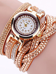 cheap -Women's Bracelet Watch Fashion Watch Wrist watch Quartz Imitation Diamond Punk Colorful PU Band Charm Sparkle Vintage Casual Eiffel Tower