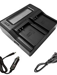 ismartdigi BLN1 caricatore doppio LCD con cavo di ricarica auto per batterys Olympus BLN-1 em1 EM5 ep5 E-M1 e M5-e-p5 e-m5ii