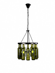cheap -Chandelier ,  Country Painting Feature for Mini Style Metal Bedroom Dining Room Study Room/Office