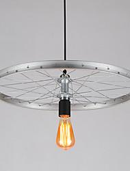 1 Heads Retro Industrial Pendant Lights Simple Loft The wheel Shape Creative Metal Dining Room Kitchen Bar Cafe Decoration lighting