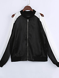 cheap -Women's Street chic Bomber Jacket Patchwork