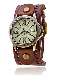 cheap -Men's Fashion Watch / Military Watch / Wrist Watch Cool / Punk / Colorful Leather Band Charm / Vintage / Casual Black / White / Blue / KC 377A