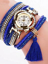 baratos -Mulheres Bracele Relógio / Relógio de Pulso Legal / Colorido PU Banda Amuleto / Brilhante / Vintage Preta / Branco / Azul