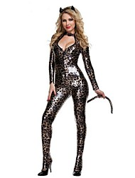Lady Latex Catwomen Costumes Bodysuits Erotic Leotard Costumes Sexy Lingerie Catsuit Costumes For Halloween party