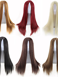 cheap -cheap mulit color choose middle length straight black red brown blonde daily wig cosplay lolita fashion heat resistant natural hair